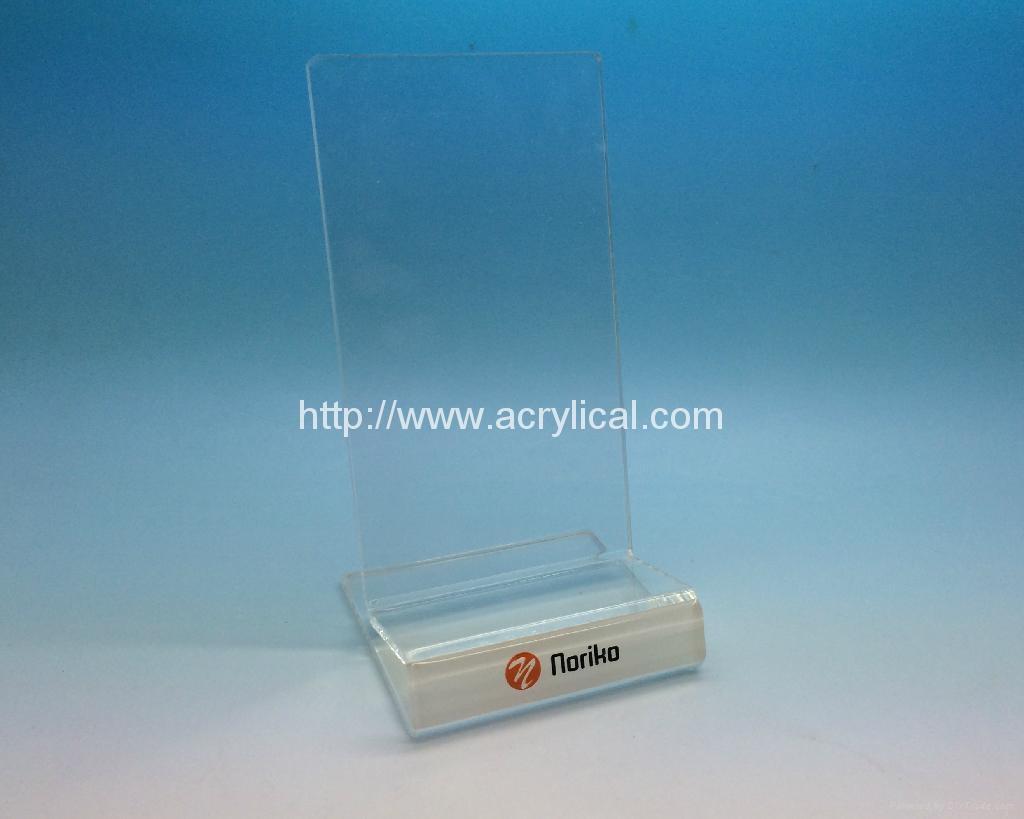 亚克力手机展示架 ,有机玻璃电子产品展示架 4
