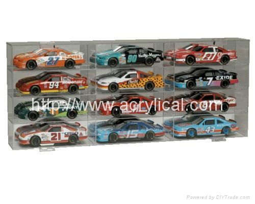 9 CAR ACRYLIC DISPLAY CASE -9 FREE NAME PLATES