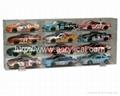 9 CAR ACRYLIC DISPLAY CASE -9 FREE NAME PLATES