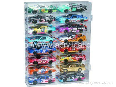 16 CAR ACRYLIC DISPLAY CASE - 16FREE NAME PLATES