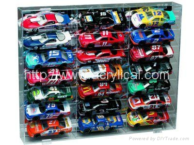 21 CAR ACRYLIC DISPLAY CASE - 21 FREE NAME PLATES