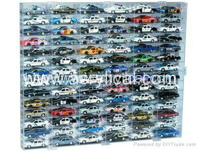 24 CAR ACRYLIC DISPLAY CASE - 24 FREE NAME PLATES