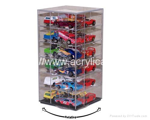 rotating acrylic die cast car display case