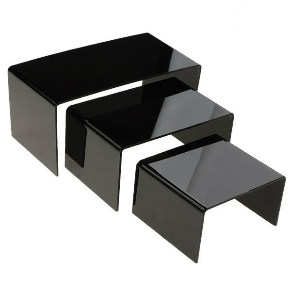 Acrylic Risers  Proudly and securely display collectibles, miniatures, models, dolls, awards and trophies with our Rectangular Acrylic Risers. They elevate your favorite treasures to keep them completely visible.