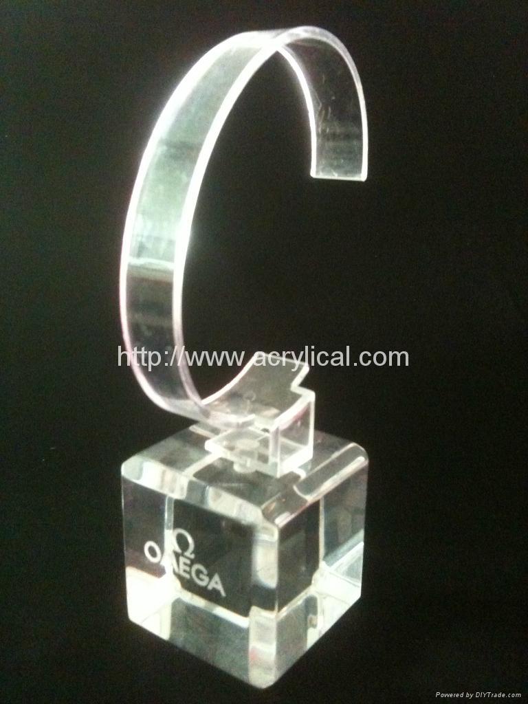 有機玻璃(亞克力)手錶展示架/亞克力手錶C圈支架/ 9