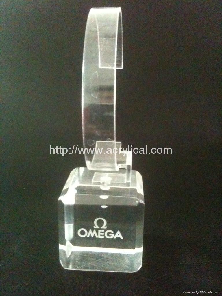 有机玻璃(亚克力)手表展示架/亚克力手表C圈支架/ 8