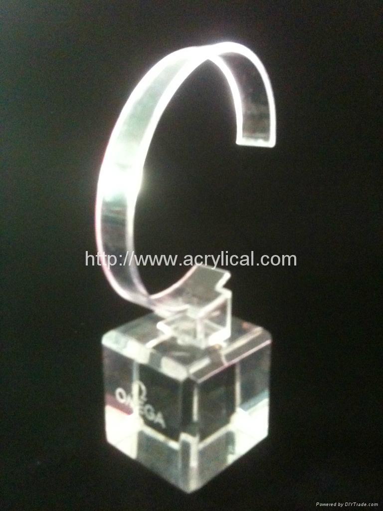 有機玻璃(亞克力)手錶展示架/亞克力手錶C圈支架/ 7