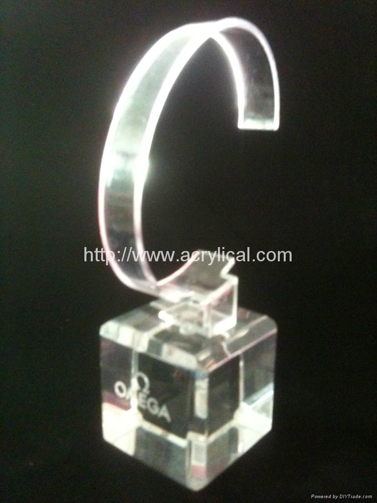 有机玻璃(亚克力)手表展示架/亚克力手表C圈支架/ 6