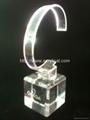 有機玻璃(亞克力)手錶展示架/亞克力手錶C圈支架/ 6