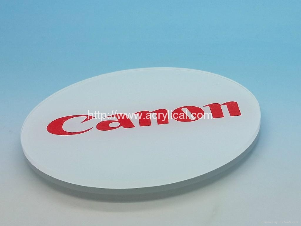 Acrylic coaster,Corporation gifts-promotion gift -acrylic coaster     -Canon diameter 90mm