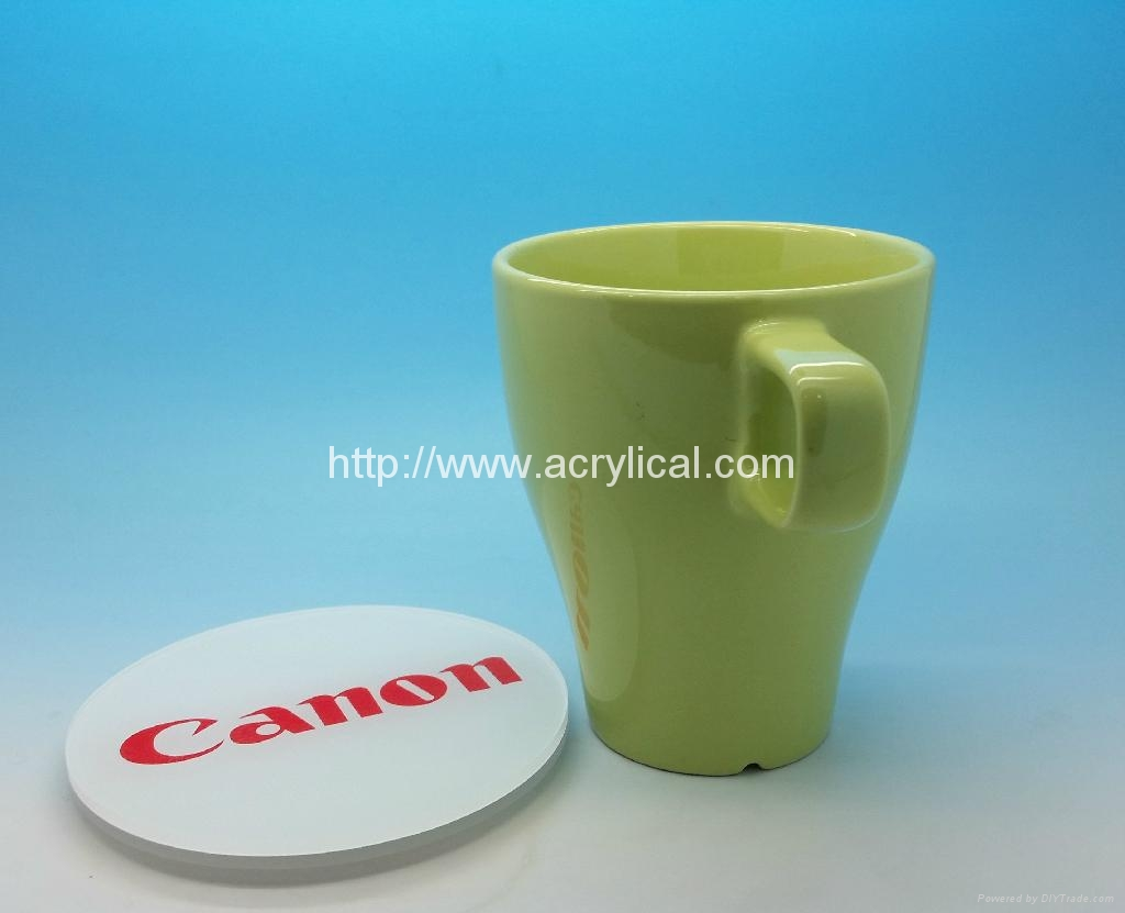 promotion gifts,corpotation gifts-acrylic coasters -Canon diameter 90mm