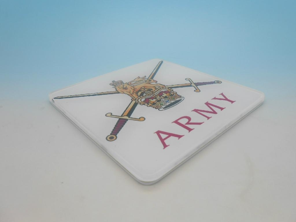 Military Drink & Beverage Coasters, Souvenir Acrylic Coaster, Military coasters, gift for veterans, gifts for men, drink coasters, army, navy, air force, marines, soldier coasters, travertine coasters, military service gift