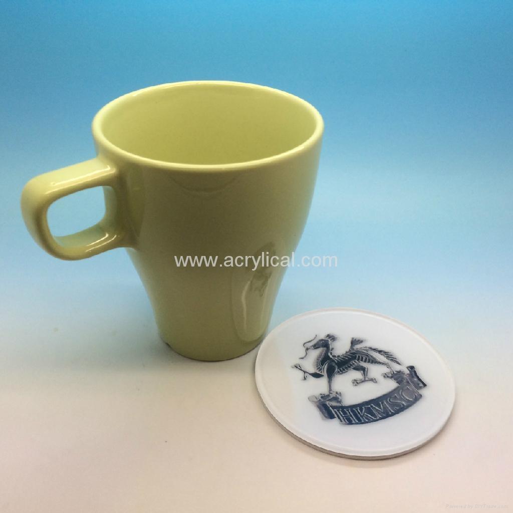 压克力杯垫-尺寸可以自定-广告礼品,公司广告赠品-广告杯垫
