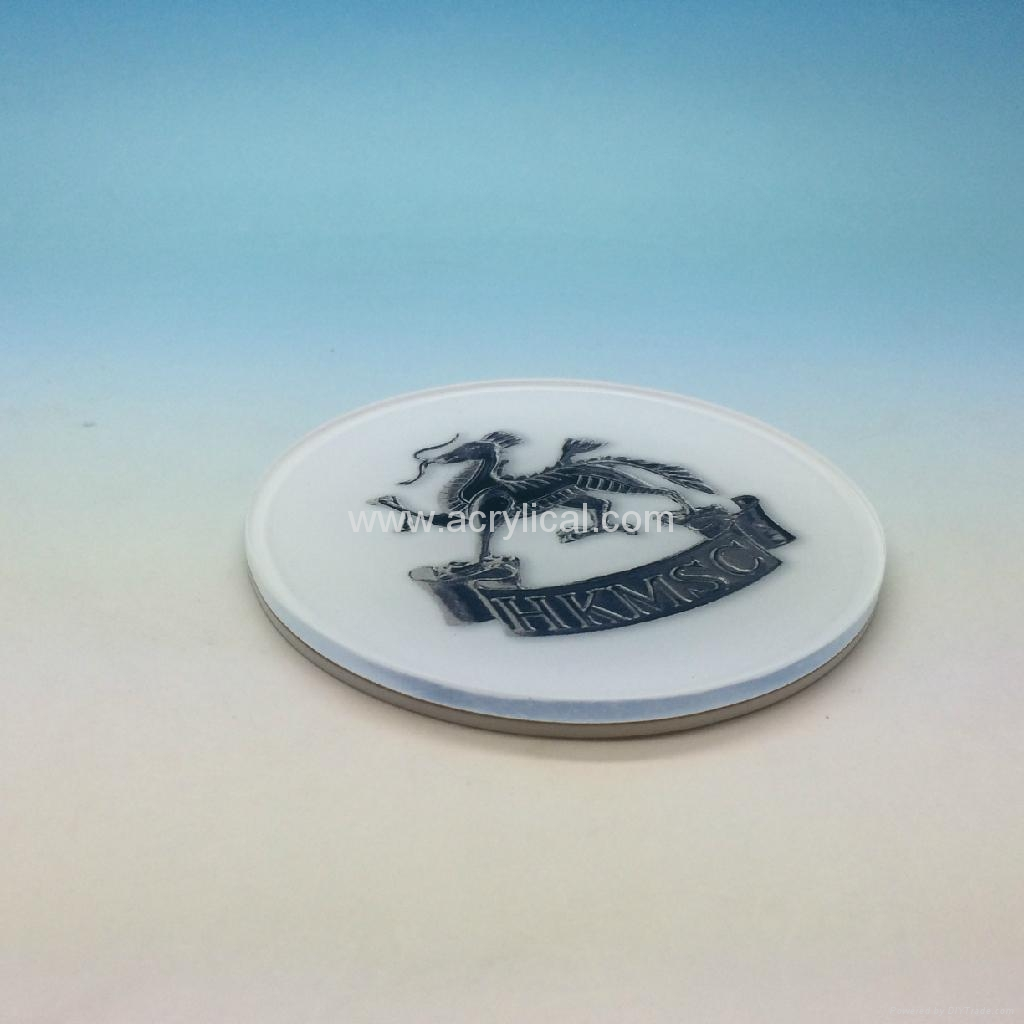 acrylic coaster-weclome your logo