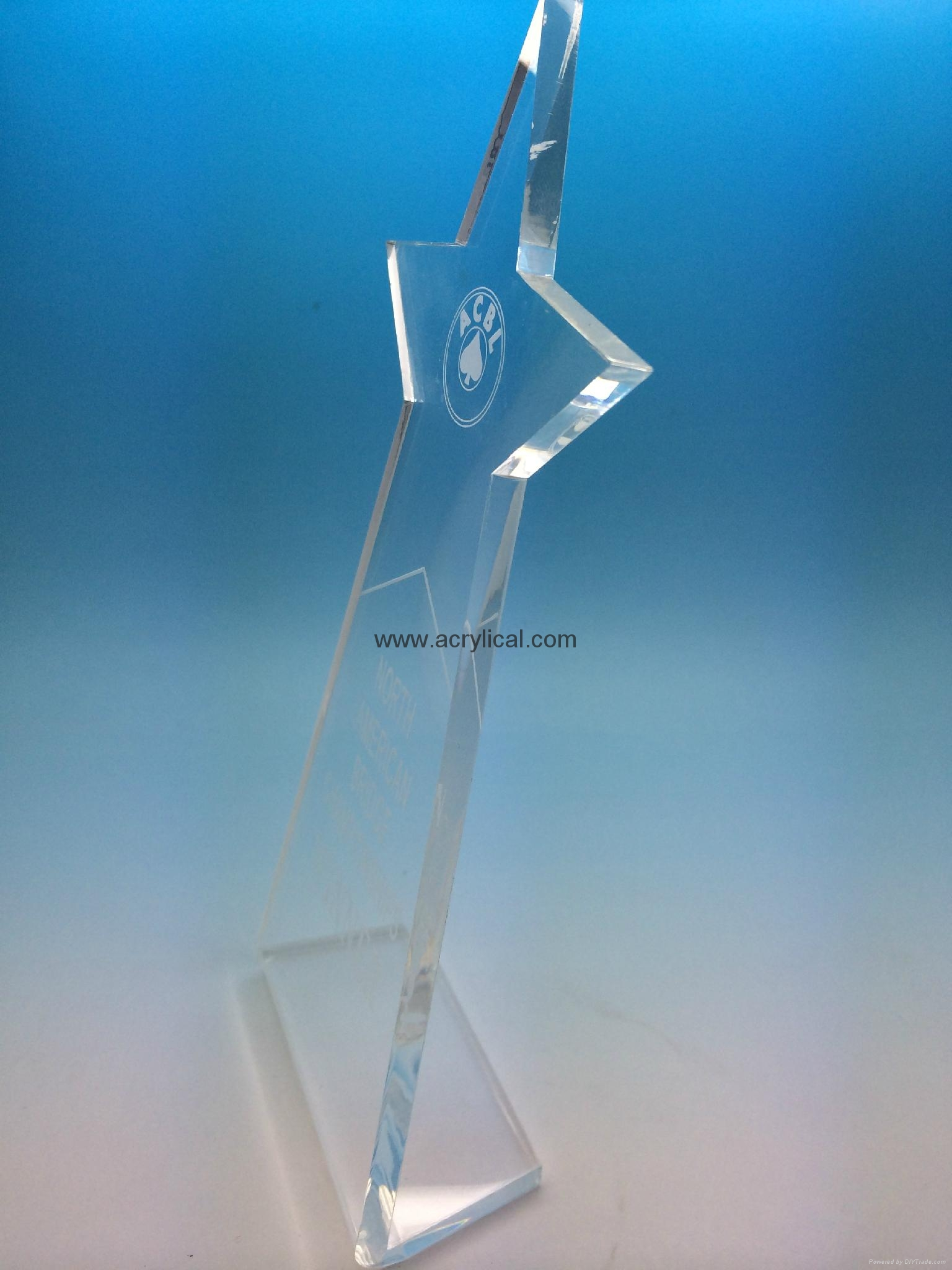 Awards made of acrylic, finely crafted and polished with expert detailed laser engraving. Great Acrylic Award products for Employee Recognition and your next Corporate Awards Program. Acrylic awards in several colors, styles, sizes and shapes!
