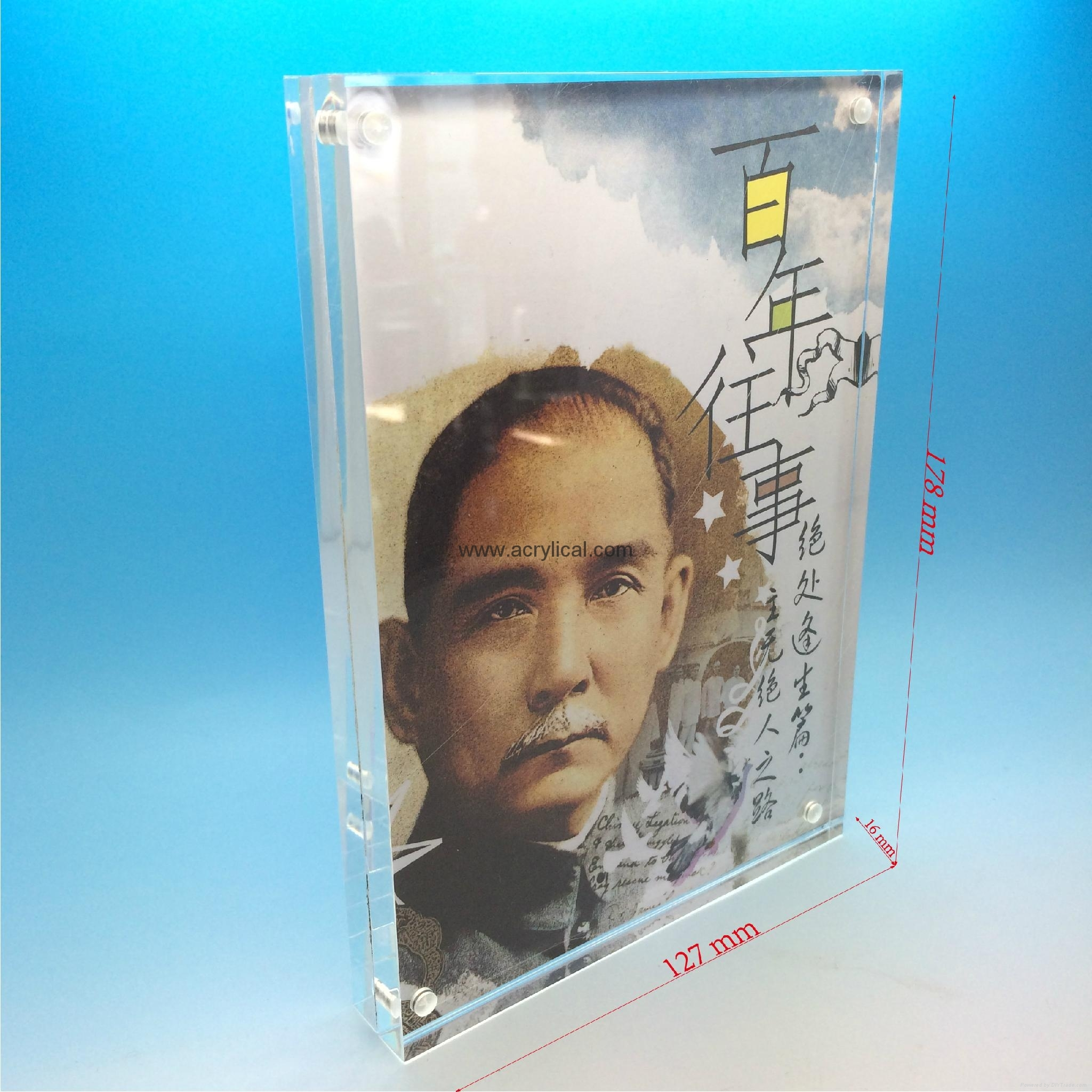 large acrylic cube photo frame,acrylic photo frame,square acrylic photo frame,clear acrylic photo frame cube,mini acrylic photo frame,acrylic magnetic photo frame,clear acrylic magnetic photo frame,,The Heavy Magnetic Picture Frame preserves your photo between heavy sheets of clear acrylic that are held together by magnetic corners. Can be used vertically or horizontally and available in three sizes:2-1/2 X 3-1/2 X 3/4, 3 1/2'', 3 1/2'' x 5'', 4'' x 6'', 5'' x 7'',Acrylic Photo Frame,photo frame with magnet,Acrylic display stands, Acrylic sign letter ,Acrylic photo Frame,Literature displays, Brochure holders, Acrylic sign holder,Menu stand,Promotion gifts,Cell phone display stands, Acrylic Easel Book Holder Rack,Acrylic display case/Box ,Diecast car display case ,Trophies, Artistic ,POP display stands,Acrylic coaster,Jewelry display stand,dome display, eyewear display stands,LED lighting  Box,Poster display,LED display stands,Watch display stand,Counter top display stand,POP stand,POP display,Floor Standing Unit ,PETG,PVC,Vacuum forming,Window display stand,Acrylic Award,Cosmetic display,metal display rack, acrylic display rack.wooden display rack,retail shop display stand