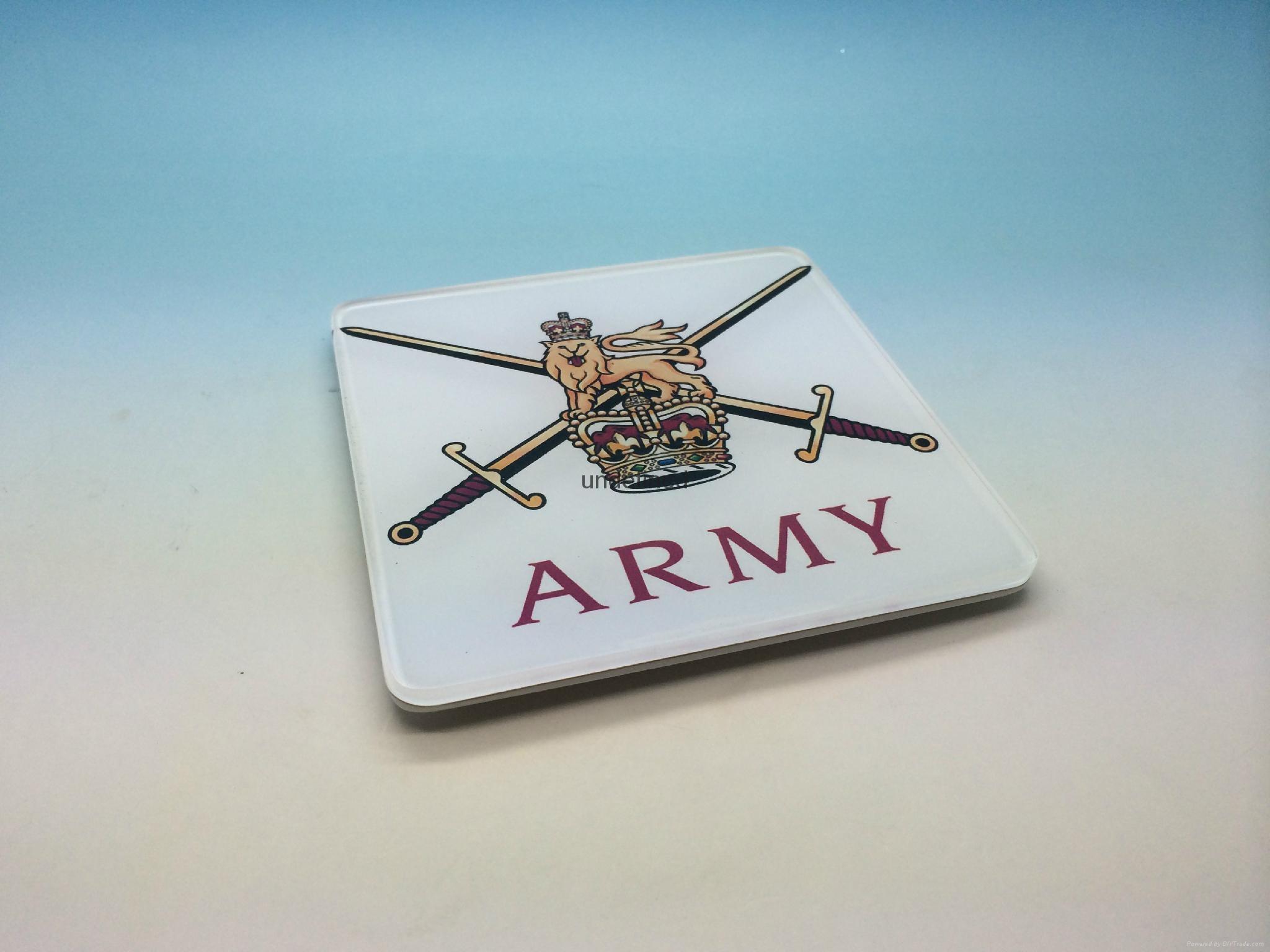 英国  杯垫-是英国  部队现任的完美礼物。军事杯垫,军队,退伍军人礼物,广告促销礼品,公司广告赠品-压克力杯垫