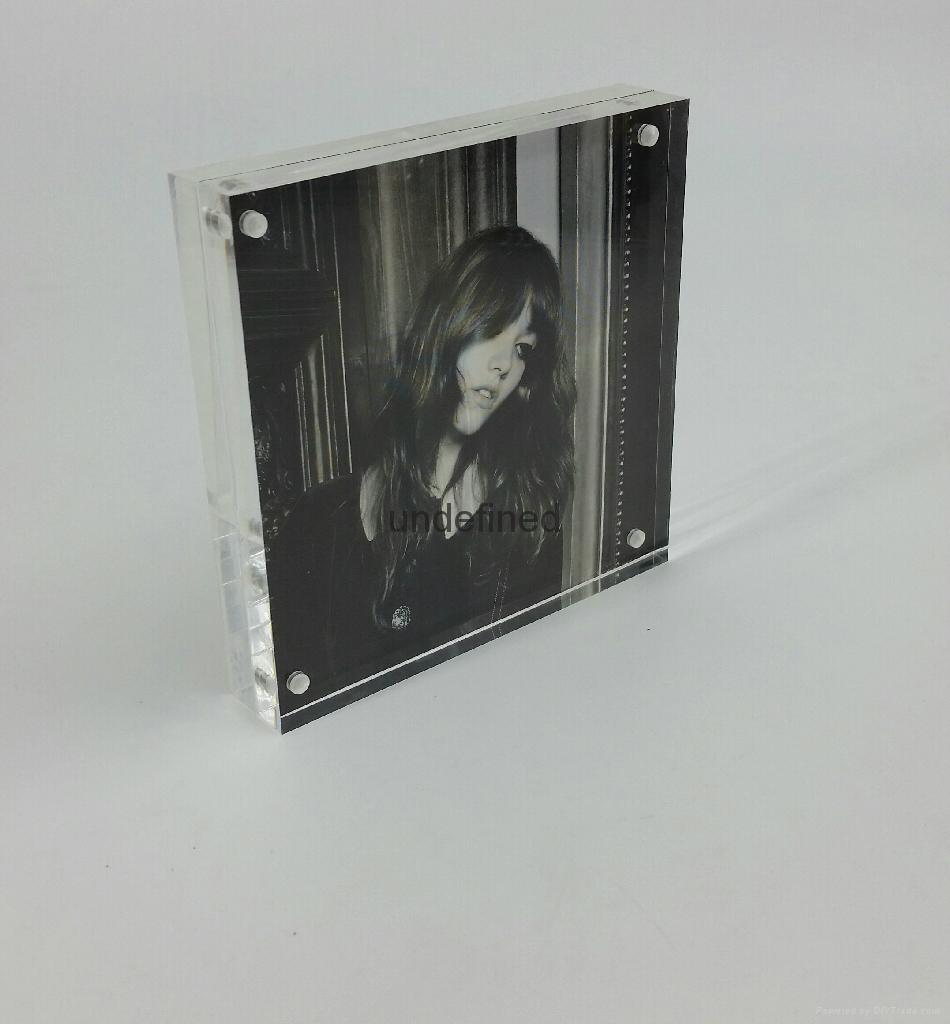 square acrylic photo frame ,Acrylic photo frame,acrylic block sign holder vertical/horizontal measures10x10cm
