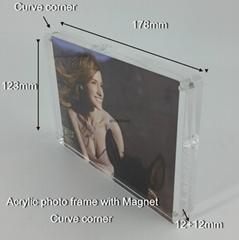 亞加力膠磁石相架5R 半圓角,亞克力透明相框 亞加力磁石相架