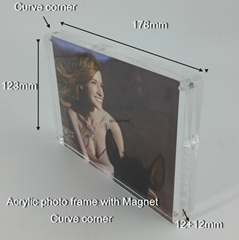 acrylic photo frame 5R Curve corner, acrylic picture frame