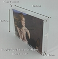 acrylic photo frame with magnet 5R( Curve corner)