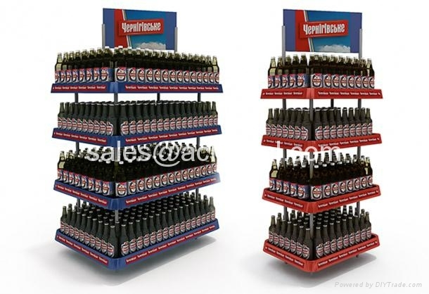 Beer display unit,PoP display unit,supermarket retail stand