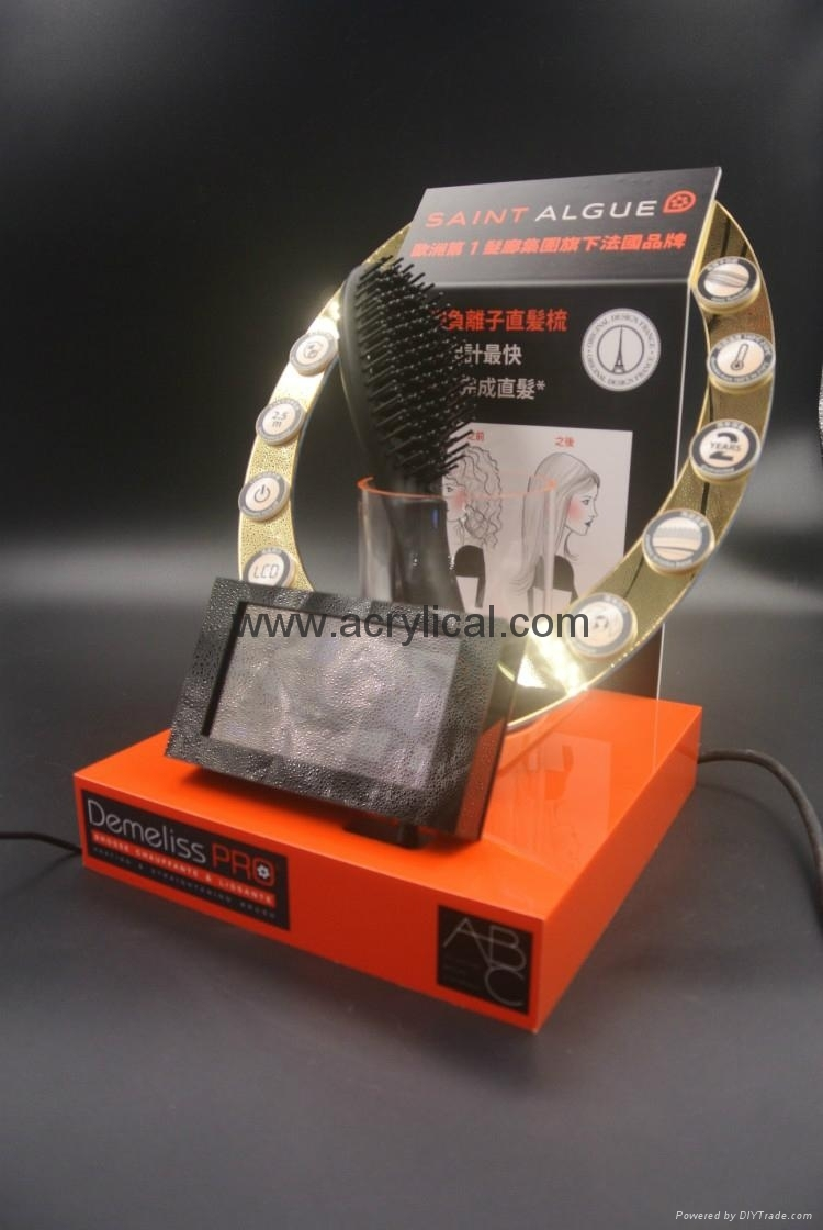 acrylic display stand with LCD media player