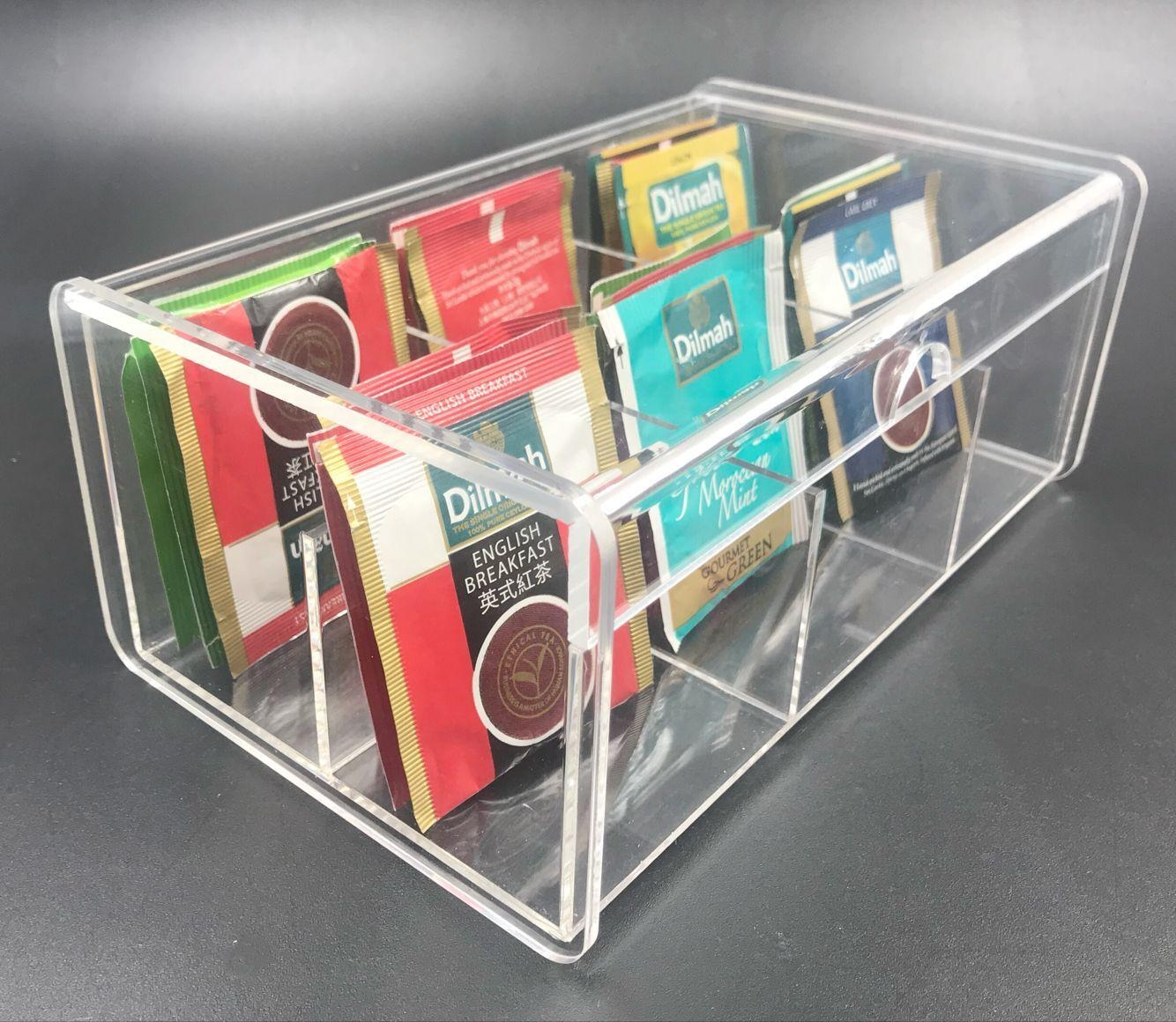 acrylic tea bag box, acrylic storage box