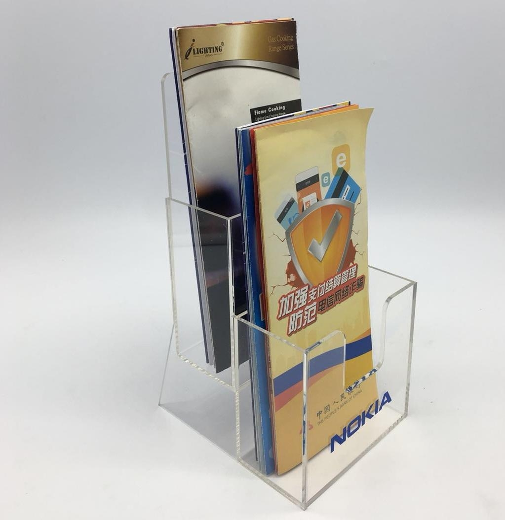Acrylic Brochure holder,sign holder,Acrylic leaflet stand