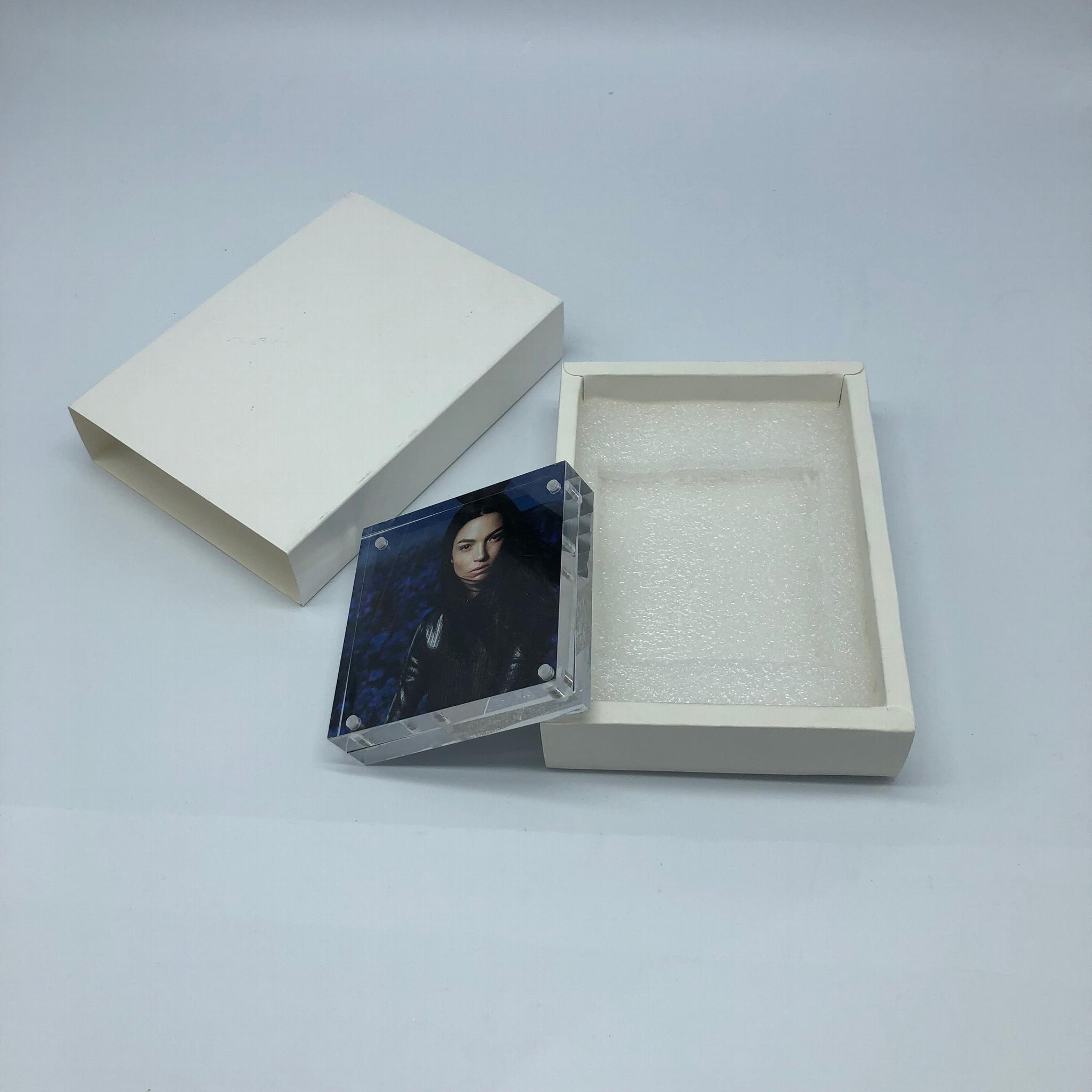 亞加力膠磁石相架10x10cm,,壓克力相框,  14