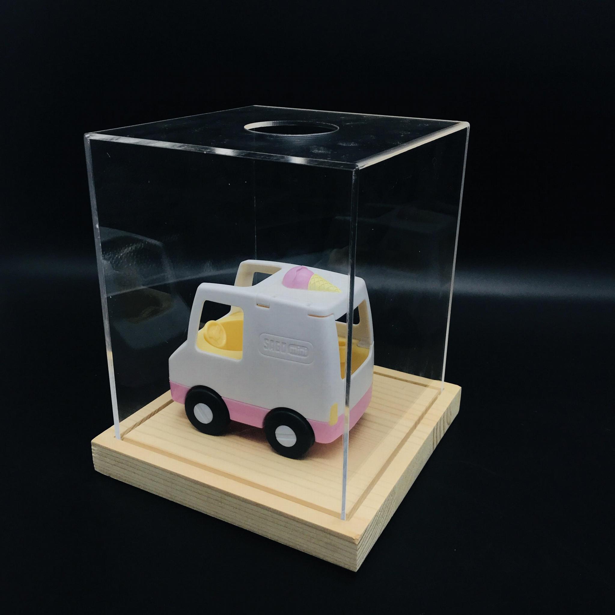 亚克力玩具展示架 定制亚克力盒子  有机玻璃公仔玩具手办展示盒 5