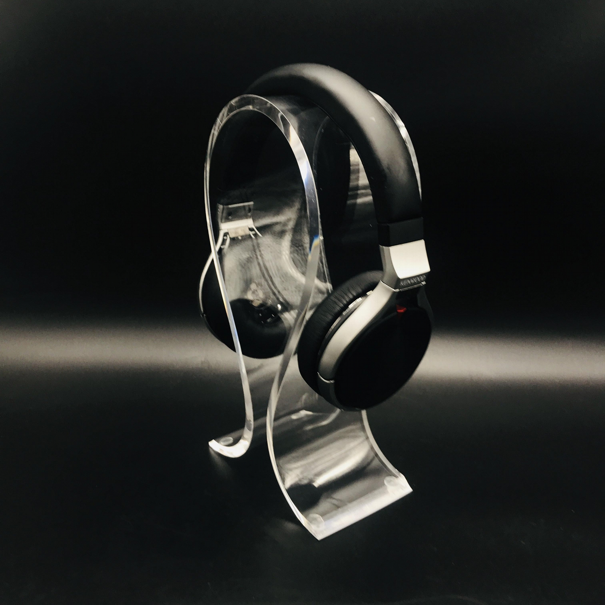 商场耳机展示架 亚克力耳机展示架 高光亮度耳机展示架 2