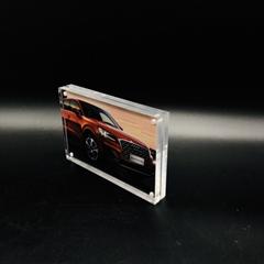 亚克力12+12mm相框 水晶可定制相框 广告相框促销