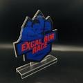廠家定製亞克力金箔獎牌授權牌 有機玻璃制品水晶凍牌獎杯