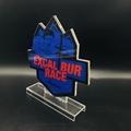 厂家定制亚克力金箔奖牌授权牌 有机玻璃制品水晶冻牌奖杯