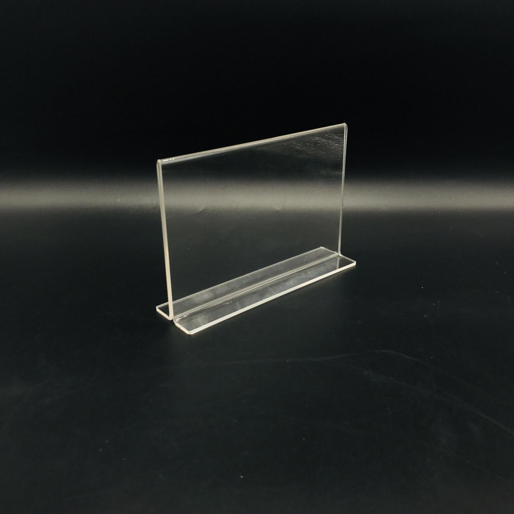 A6抽拉台牌亚克力透明底座台卡价格牌指示台签桌面展示10*15 1