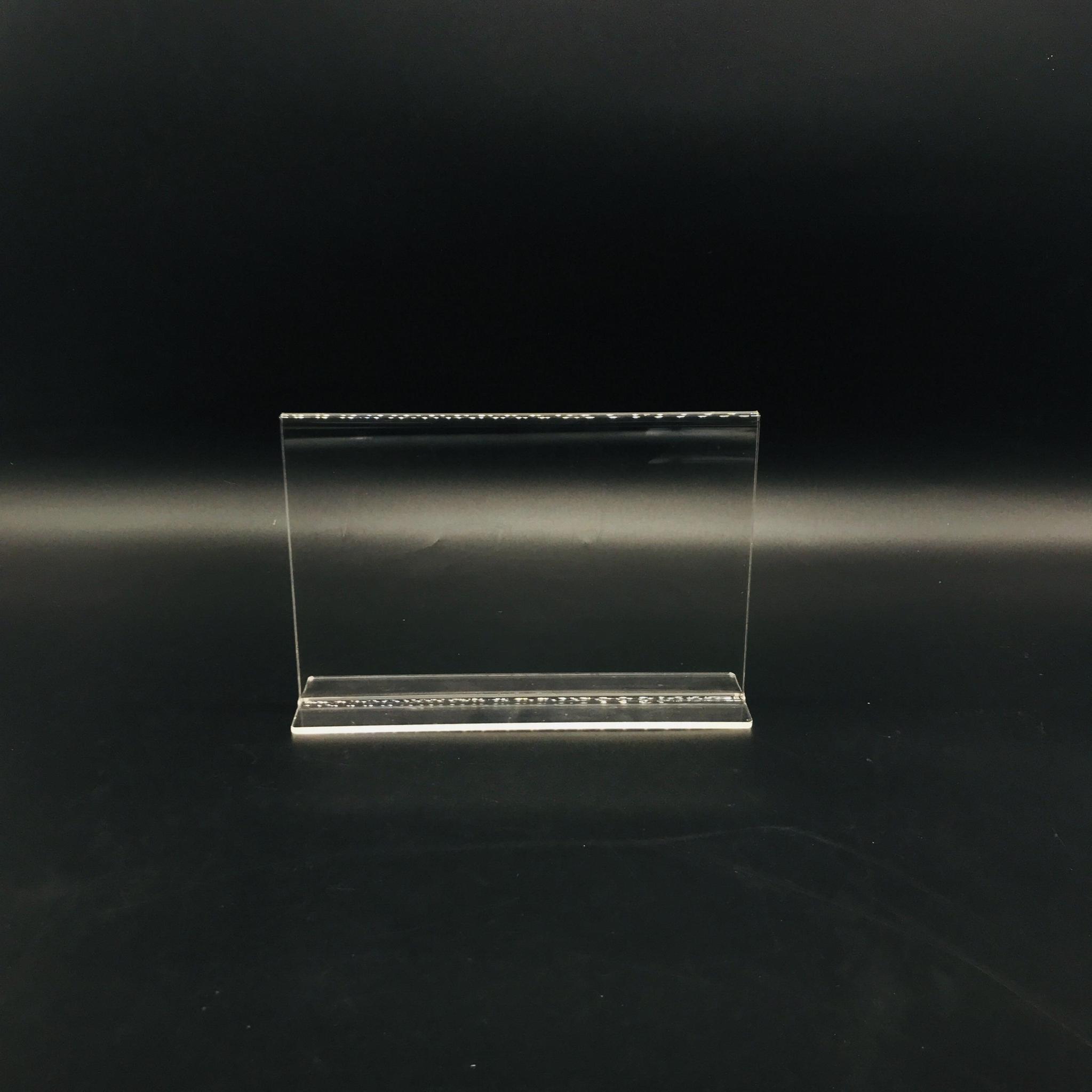 A6抽拉台牌亞克力透明底座台卡價格牌指示台簽桌面展示10*15 4