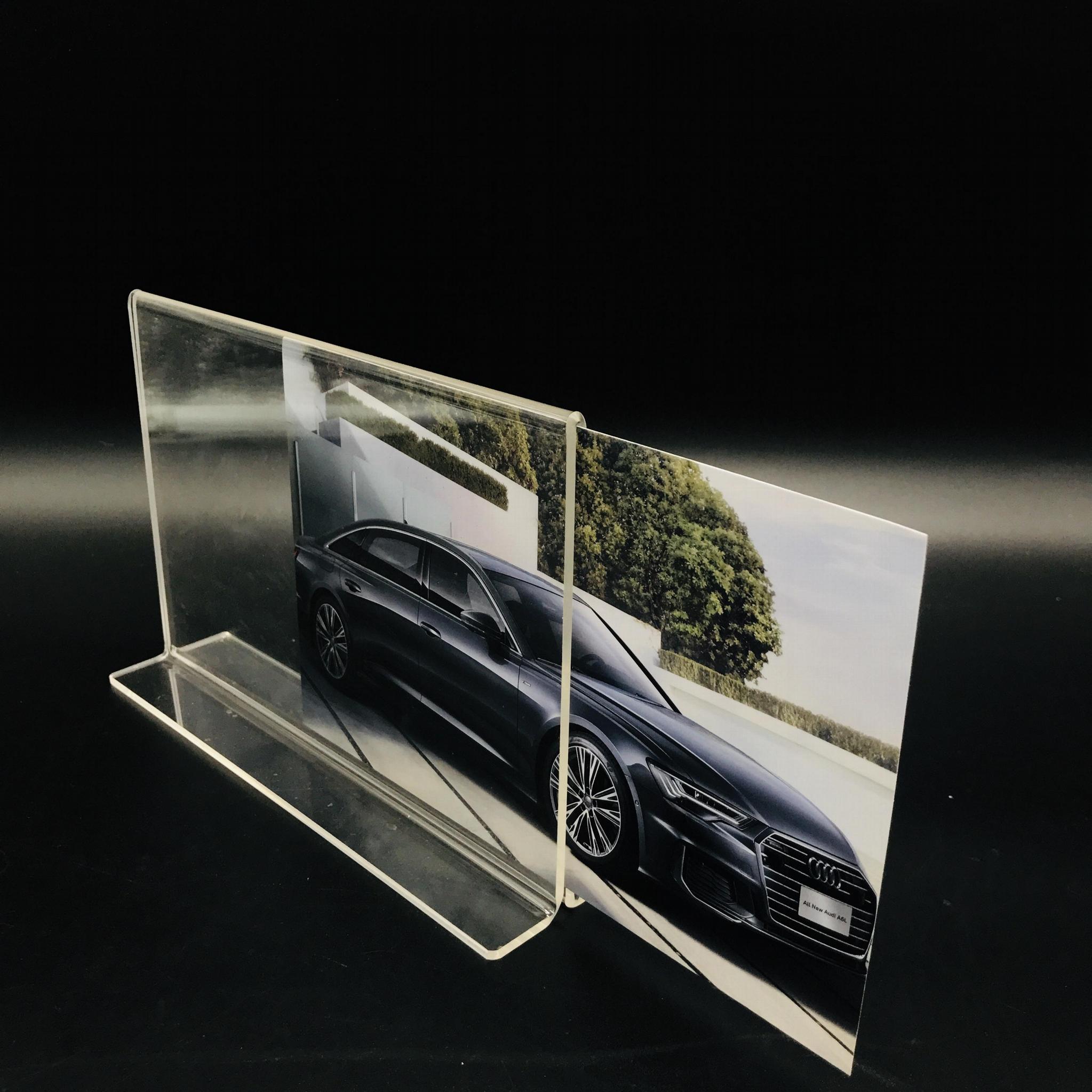 A6抽拉台牌亞克力透明底座台卡價格牌指示台簽桌面展示10*15 7