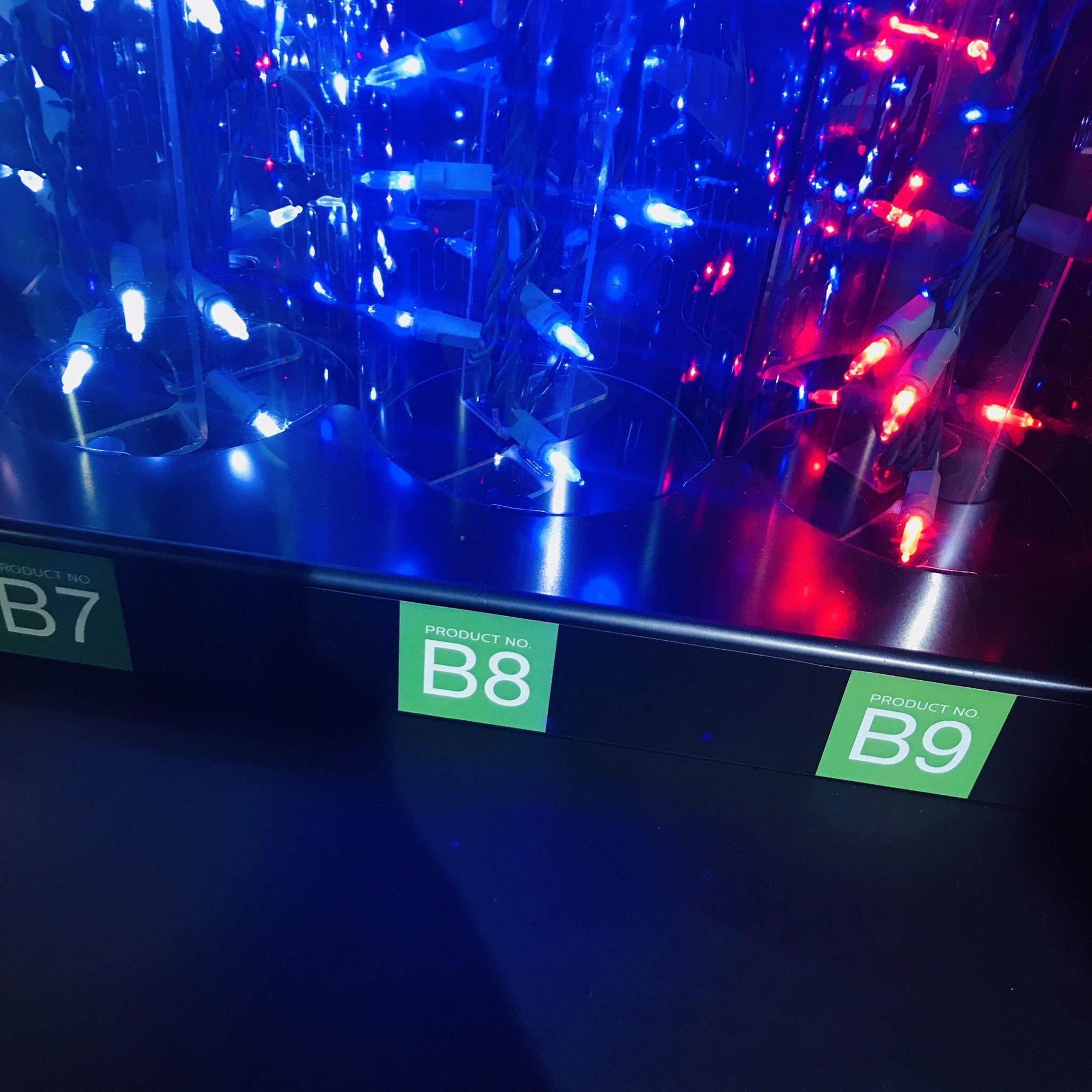 亞克力展示架 有機玻璃聖誕燈展示架 發泡板展示架 led展示架 7