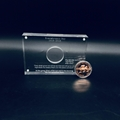 Acrylic coin award,Custom Acrylic Coin Sandwich Award