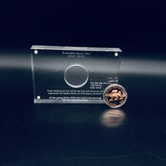 纪念奖, 亚克力纪念币相框 ,亚克力雕刻