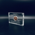 Acrylic coin award,Custom Acrylic Coin Sandwich Award