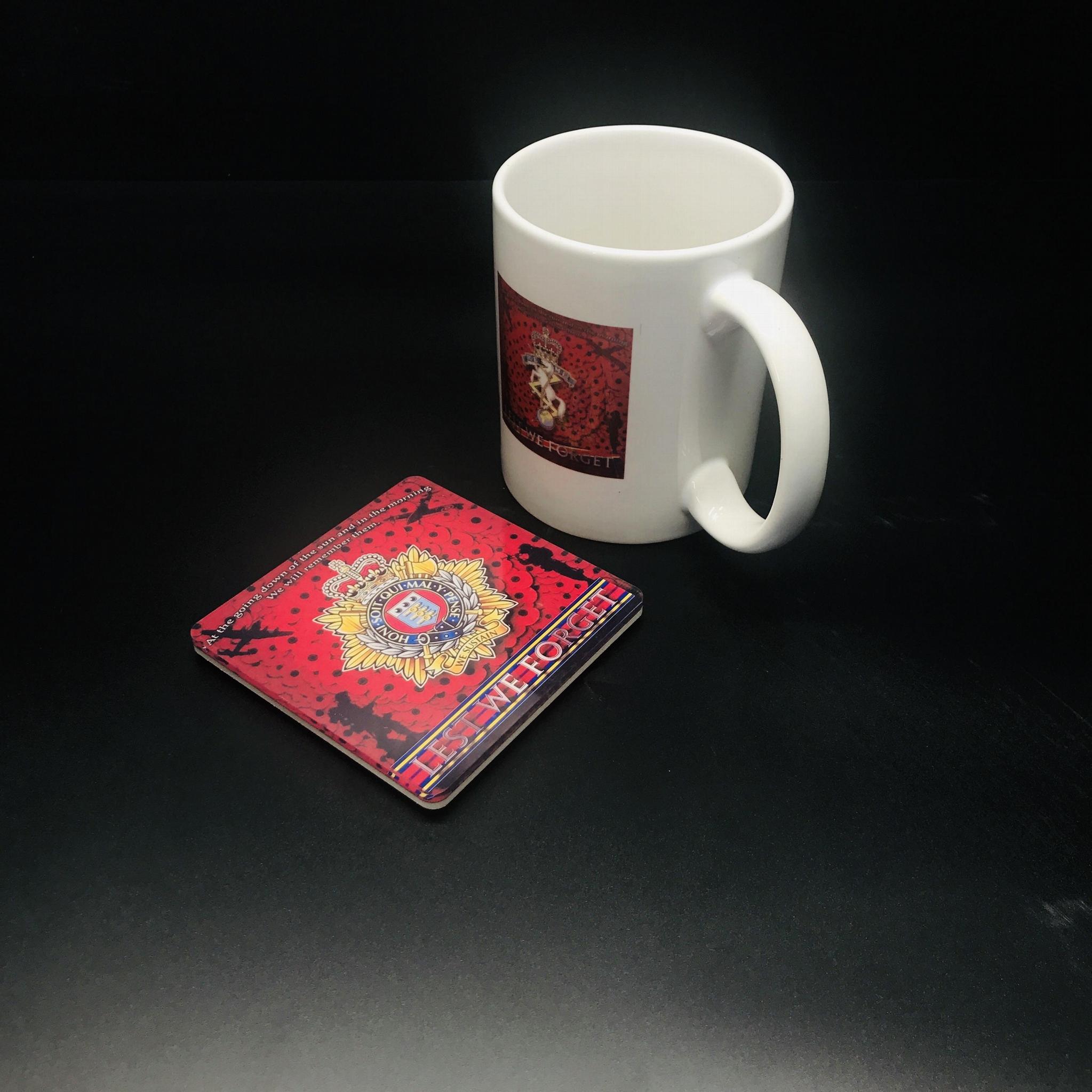 英國  杯墊-是英國  部隊現任或前任議員的完美禮物。軍事杯墊,軍隊,退伍軍人禮物