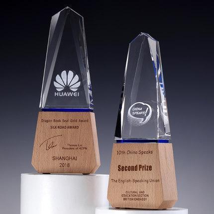紀念獎, 木製水晶紀念幣相框 ,木製雕刻