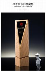 木質獎杯  牌,紀念獎, 木製水晶紀念相框 ,木製雕刻,實木雕刻製作