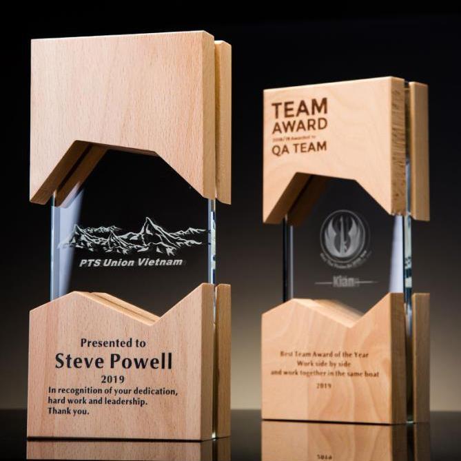 水晶獎杯定製創意木質獎牌定做刻字証書  員工同學畢業紀念品
