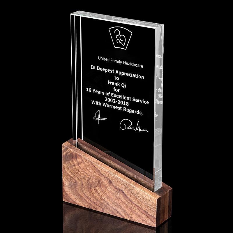 獎牌定製定做  牌金箔挂牌水晶獎杯木質榮譽牌匾証件加盟牌製作