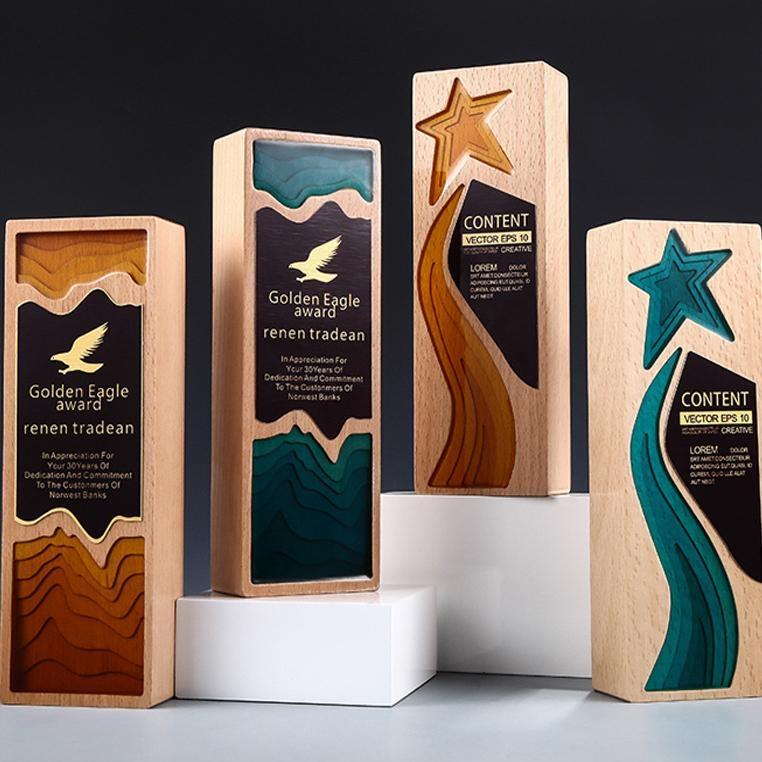 木質獎杯定製定做 活動比賽頒獎獎杯 企業集團晚會頒獎禮品  牌