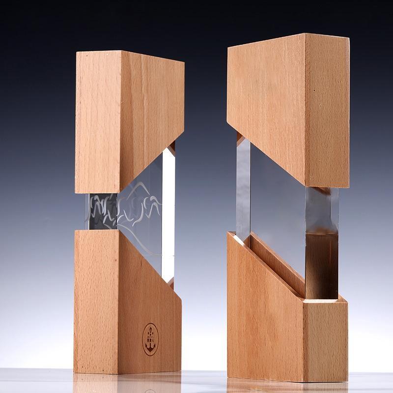 實木獎杯  獎杯定製水晶獎杯  員工獎杯木質獎杯獎杯水晶定製