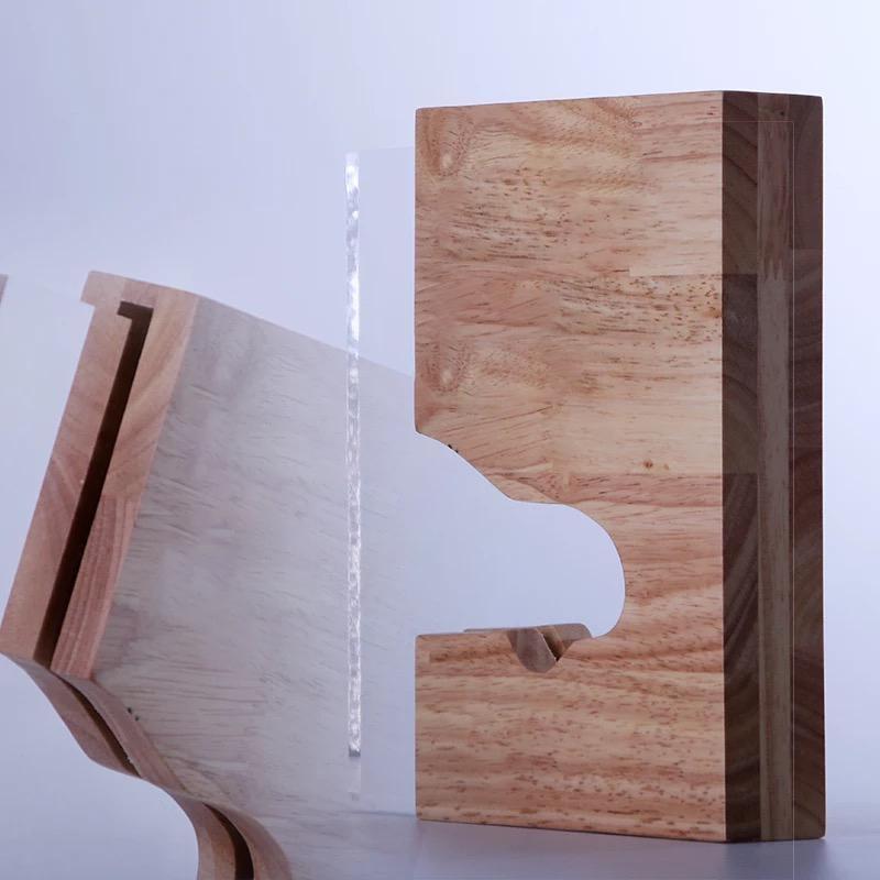 實木木質五角星獎杯獎牌定製製作創意團隊銷售    員工榮譽牌